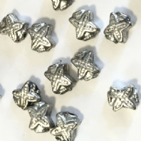 40 Tibetan Silver 5x6mm Spacer Beads